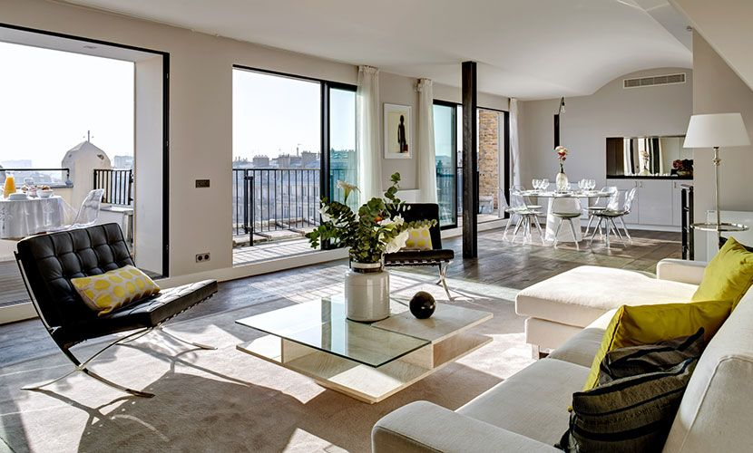 Luxury Accommodation In Paris Living Room Parisian
