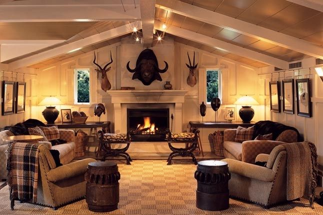 Modern But Cozy Hunting Lodge Theme Pinterest Interiors Gold And Living Rooms
