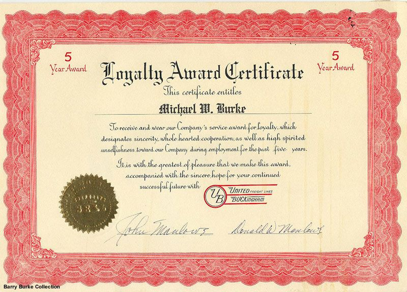 Certificate Of Loyalty Templates  Google Search  Class Reunion
