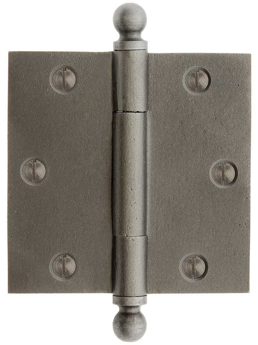3 1 2 Inch Cast Iron Door Hinge With Ball Finials Iron Door Hinges Iron Doors Door Hinges
