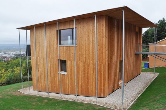 Maison bois par Woodeum Maison bois Pinterest - construire une maison ecologique