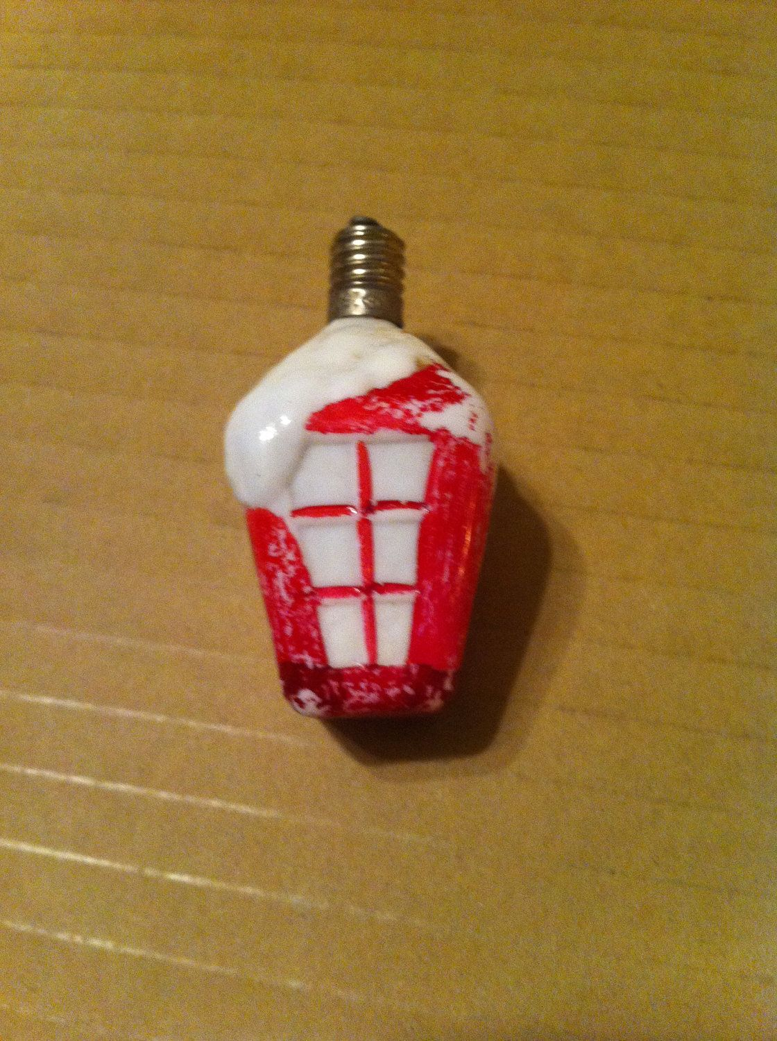 Antique Vintage Christmas Light Bulb 1930 S Milk Glass