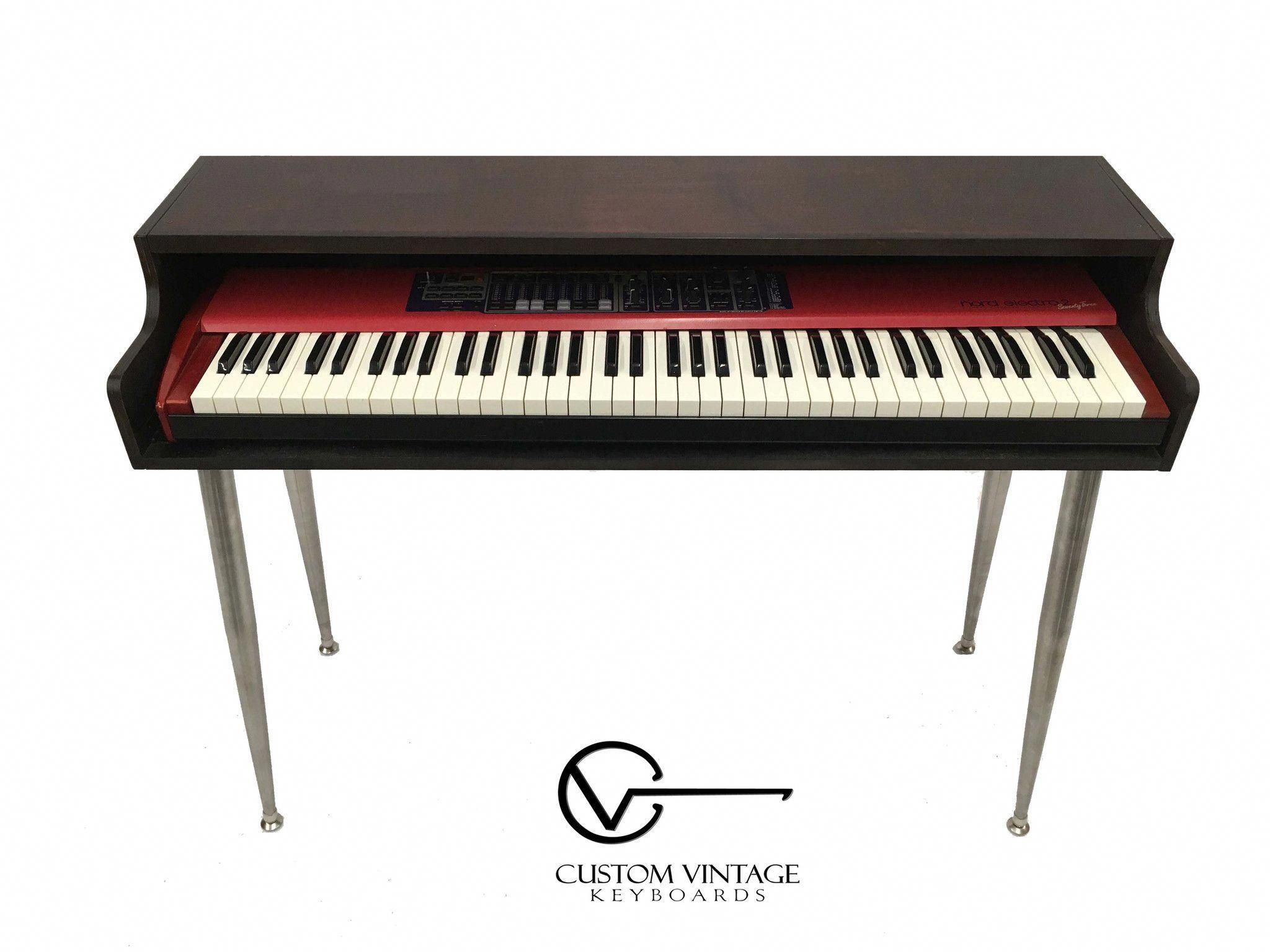 Custom Vintage Keyboards Piano Shell Is Meant To House Your Nord Or Controller For Enhanced Stage Presence Easily Collapsi Piano Keyboard Piano Electric Piano