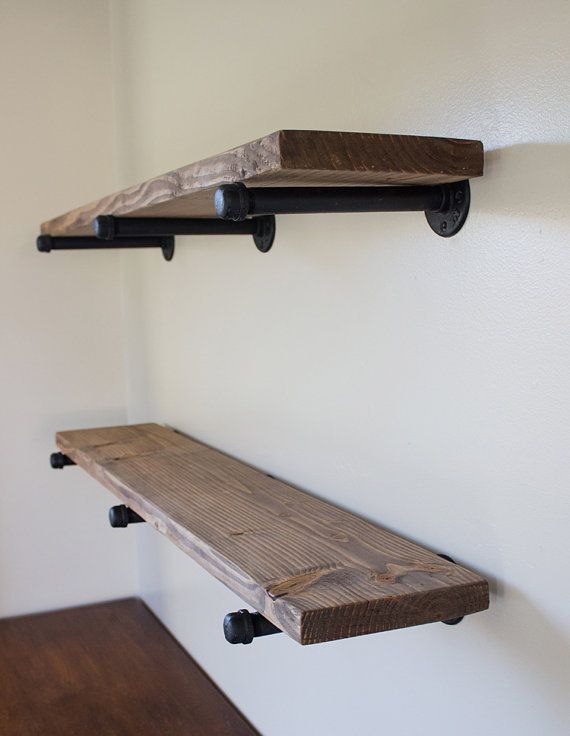 Eisen-Pipe-Regale von BrushwoodCustom auf Etsy Möbel Ideen - aufbewahrung regalsysteme holz