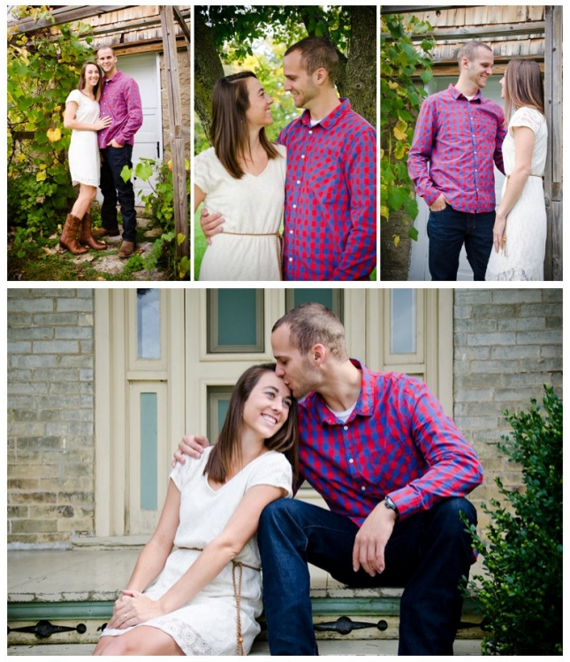 These cuties know how to dress for success in their engagement photo session -- Button Downs, Sundresses and of course, Cowboy Boots! #Perfection #Love #RusticPhotoShoot | Photo by Light Source Photography | Featured on A Northwoods Wedding