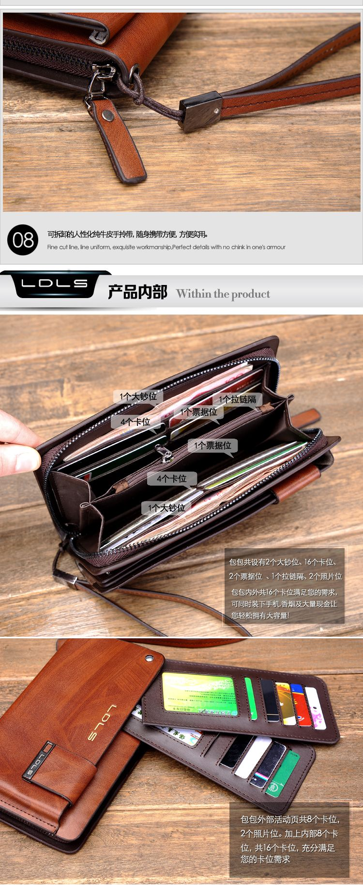 Male Clutch Genuine Leather Day Clutch Commercial Clutch Bag