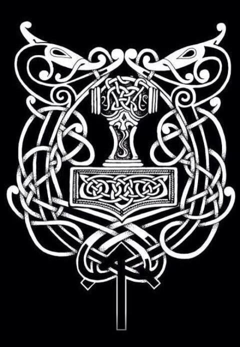 Mjolnir Tatted Tatuajes Vikingos Símbolos Nórdicos