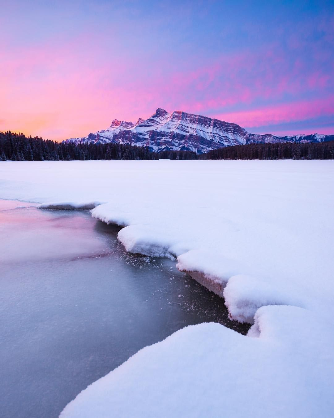 "Callum Snape on Instagram: ""Perfect pink sunrises in Banff! I'm excited to get back to my Can.."