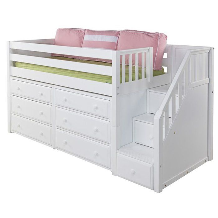 Best Great3 Low Loft Bed With Storage Kids Loft Beds Low 640 x 480