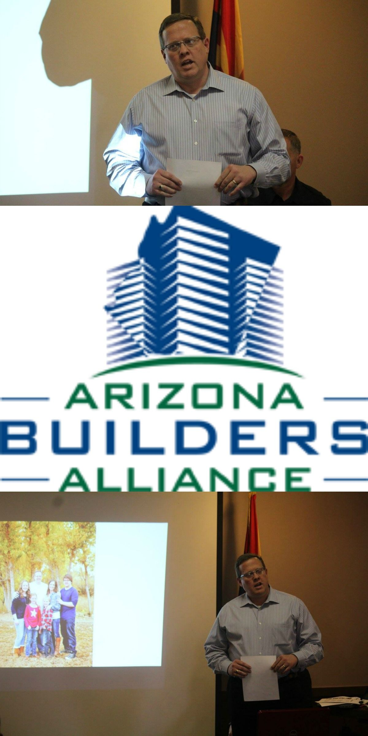 Tony Hakes presenting at The Arizona Builders Alliance