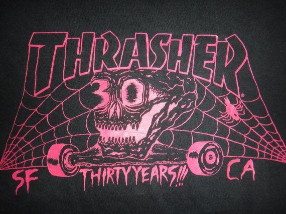 bad0aa45c64f THRASHER Thirty Years Skateboard T Shirt Monster by TwistedFabrics ...