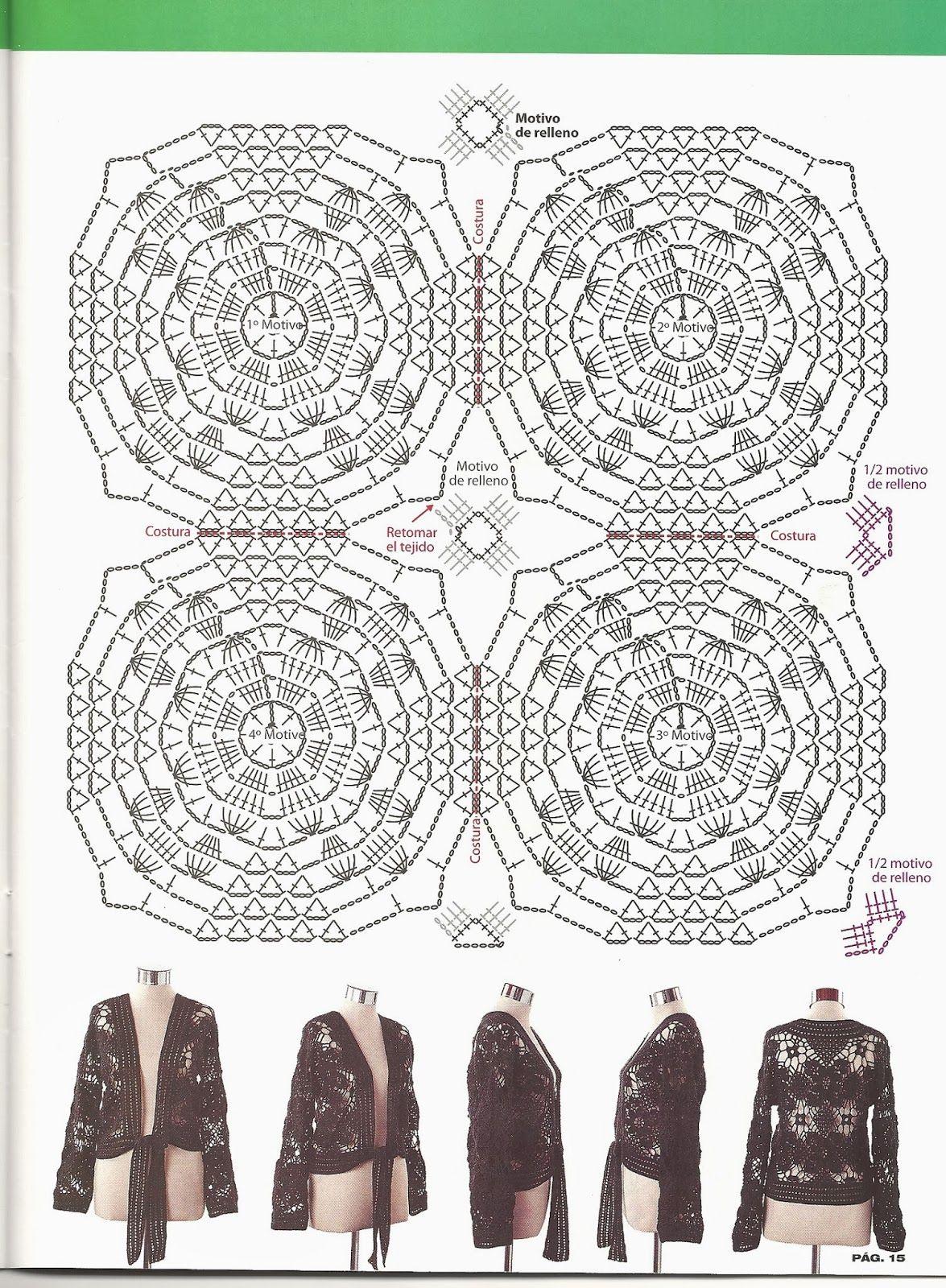 Chalina con Mangas Instrucciones Patron - Patrones Crochet | SACOS ...
