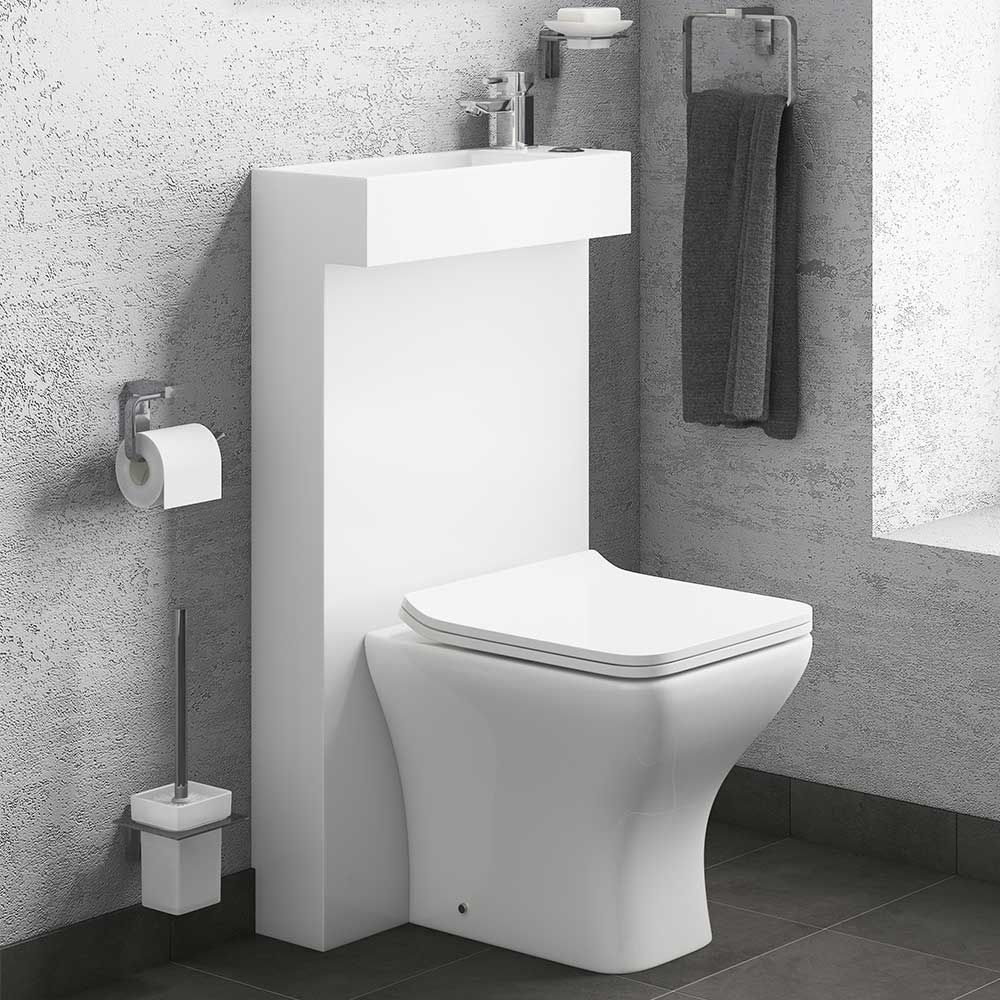 All in One Compact Toilet & Basin Shroud with Concealed Cistern ...