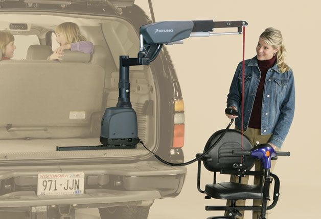 Bruno Vsl6900 Curbsider 3 Axis Scooter And Power Wheelchair Vehicle Lift Lifted Cars Wheelchair Vehicles Scooter