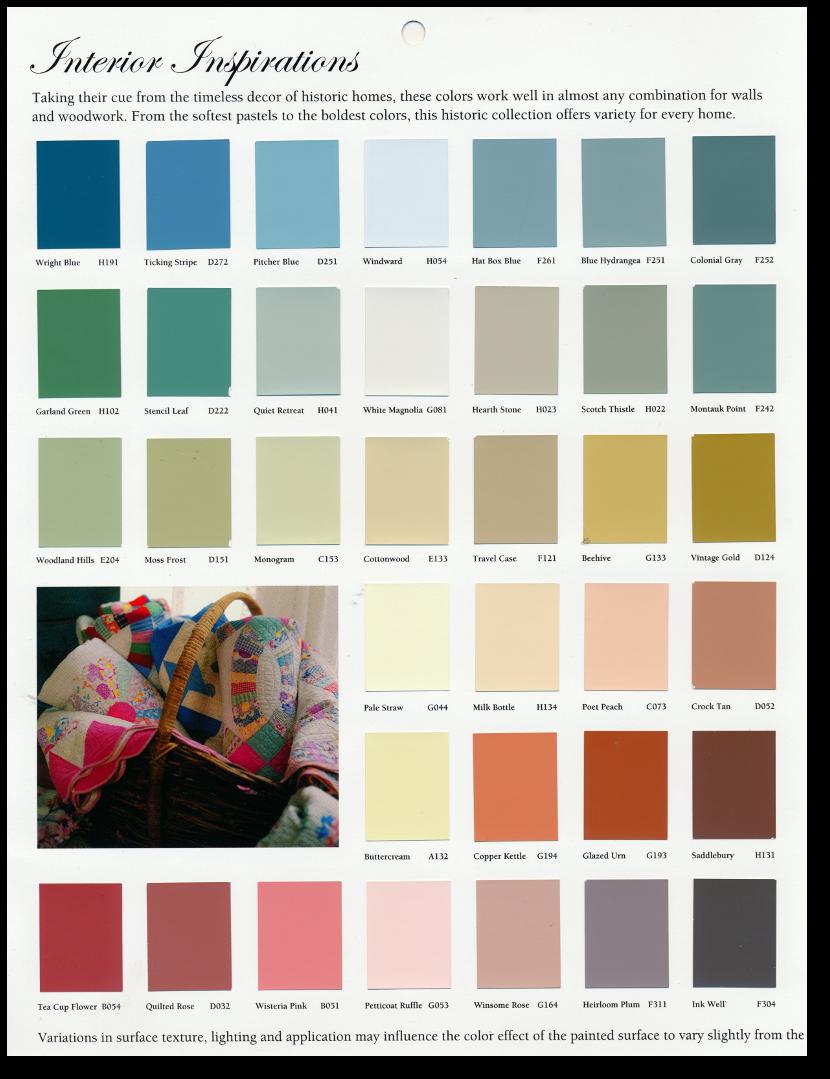 Historic Paint Color Guide By Do It Best Paints Interior Pretty