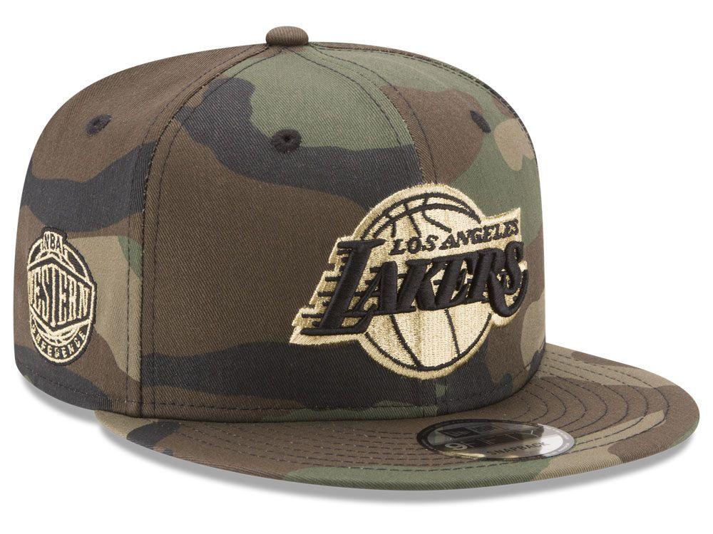 Los Angeles Lakers New Era NBA Metallic Woodland 9FIFTY Snapback Cap ... f3793801423