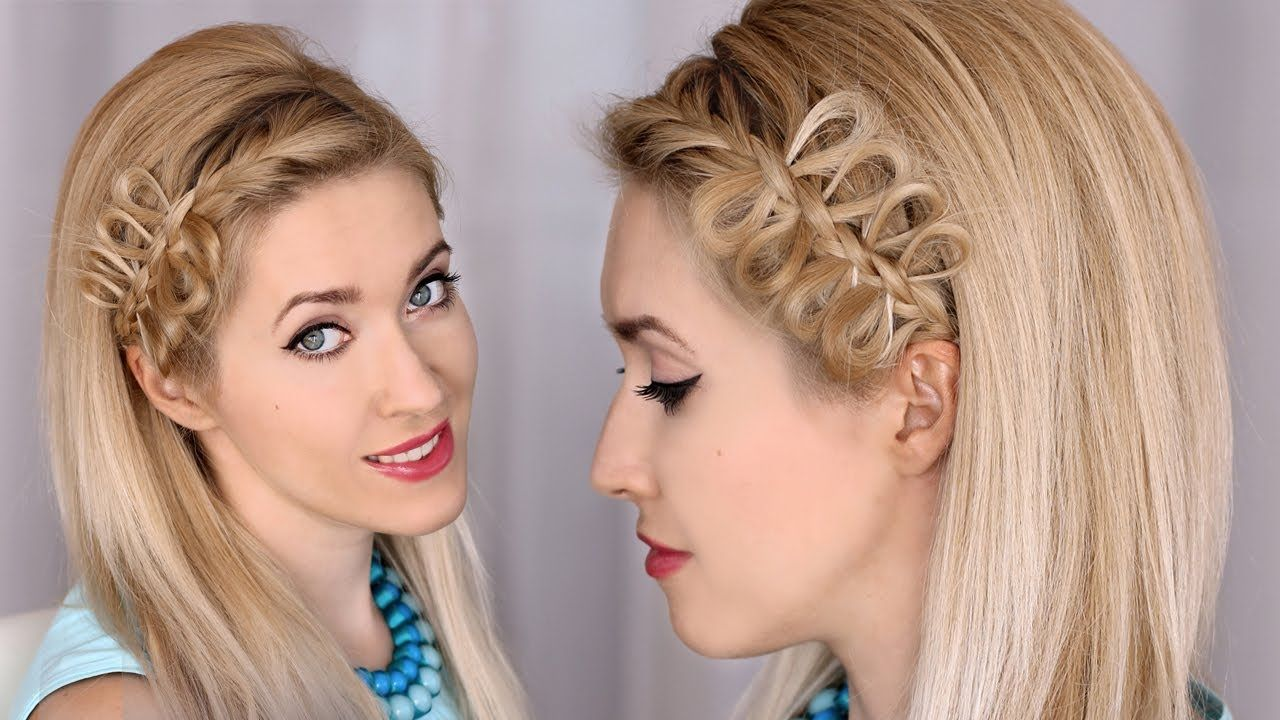 I love her tutorials because she has the exact hair type I have ...
