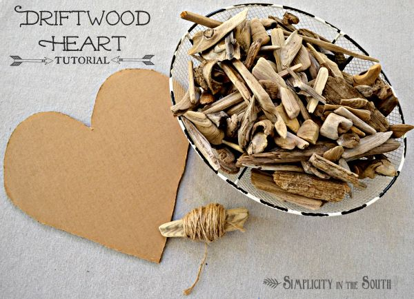 How to make driftwood heart art simplicity in the south for Driftwood crafts to make