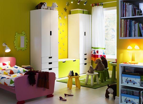 Camerette Ikea ~ Habitación infantil con la gama stuva de ikea lek