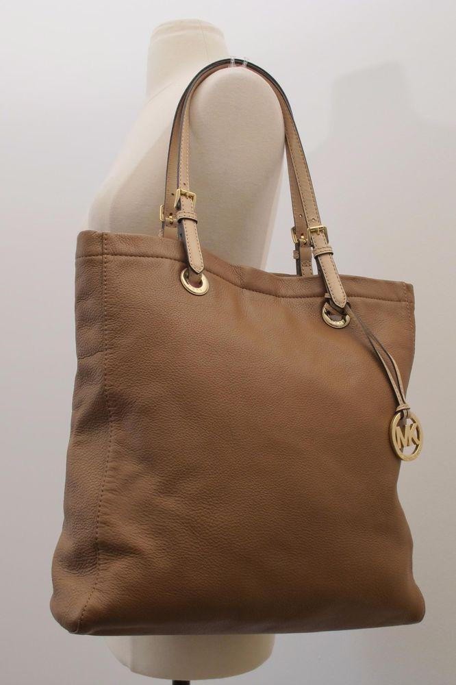 Michael Kors Brown Leather Tote Shoulder Bag Size Large  924c5463f6c98