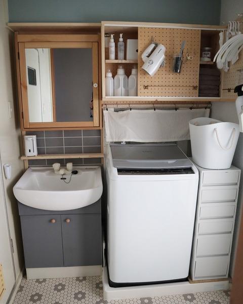 賃貸の洗面所diy ビフォーアフター 2020 収納 Diy 賃貸diy