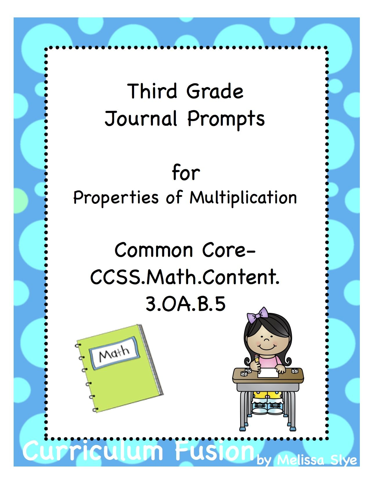 Free Third Grade Journal Prompts For Properties Of