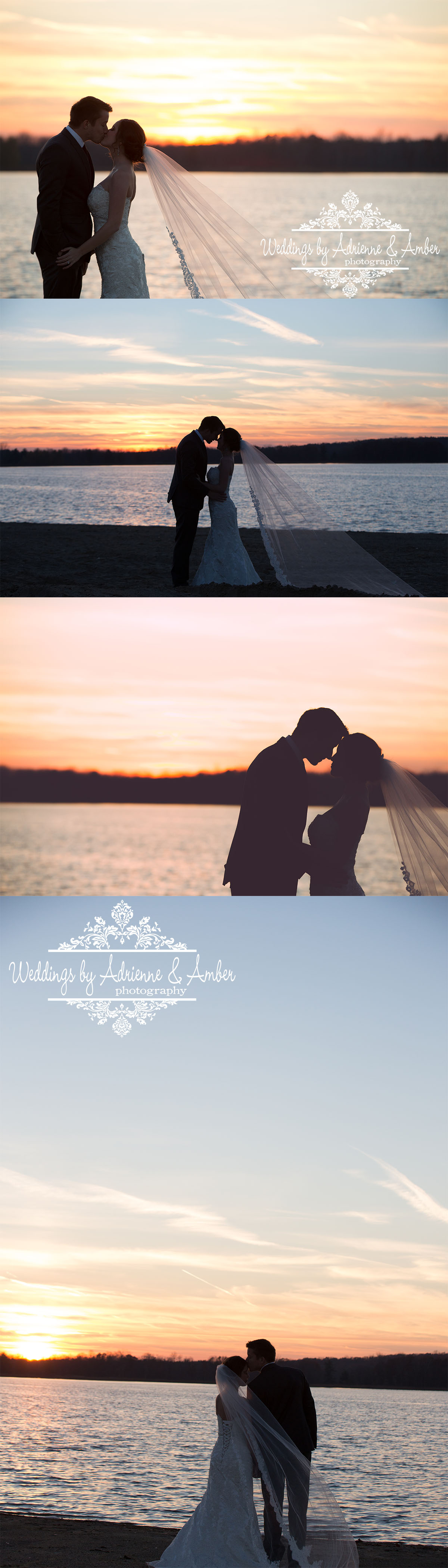 Royal Oak Wedding Photography - Weddings by Adrienne and Amber #afterglow #sunset #goldenhour #weddingphotography #wedding #photography #newday #veil #beach #evening #nightsky #bride