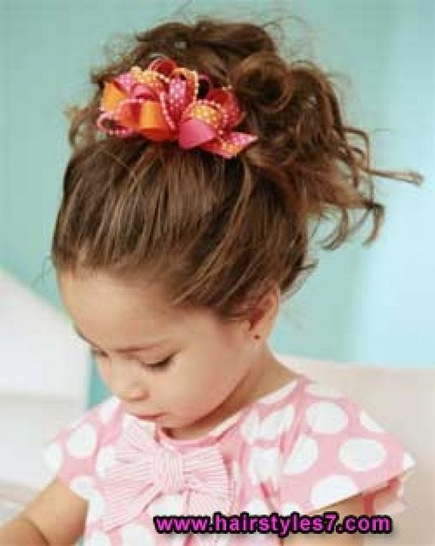 Kids Hairstyle With Cute Updo Free Download Kids Hairstyle With