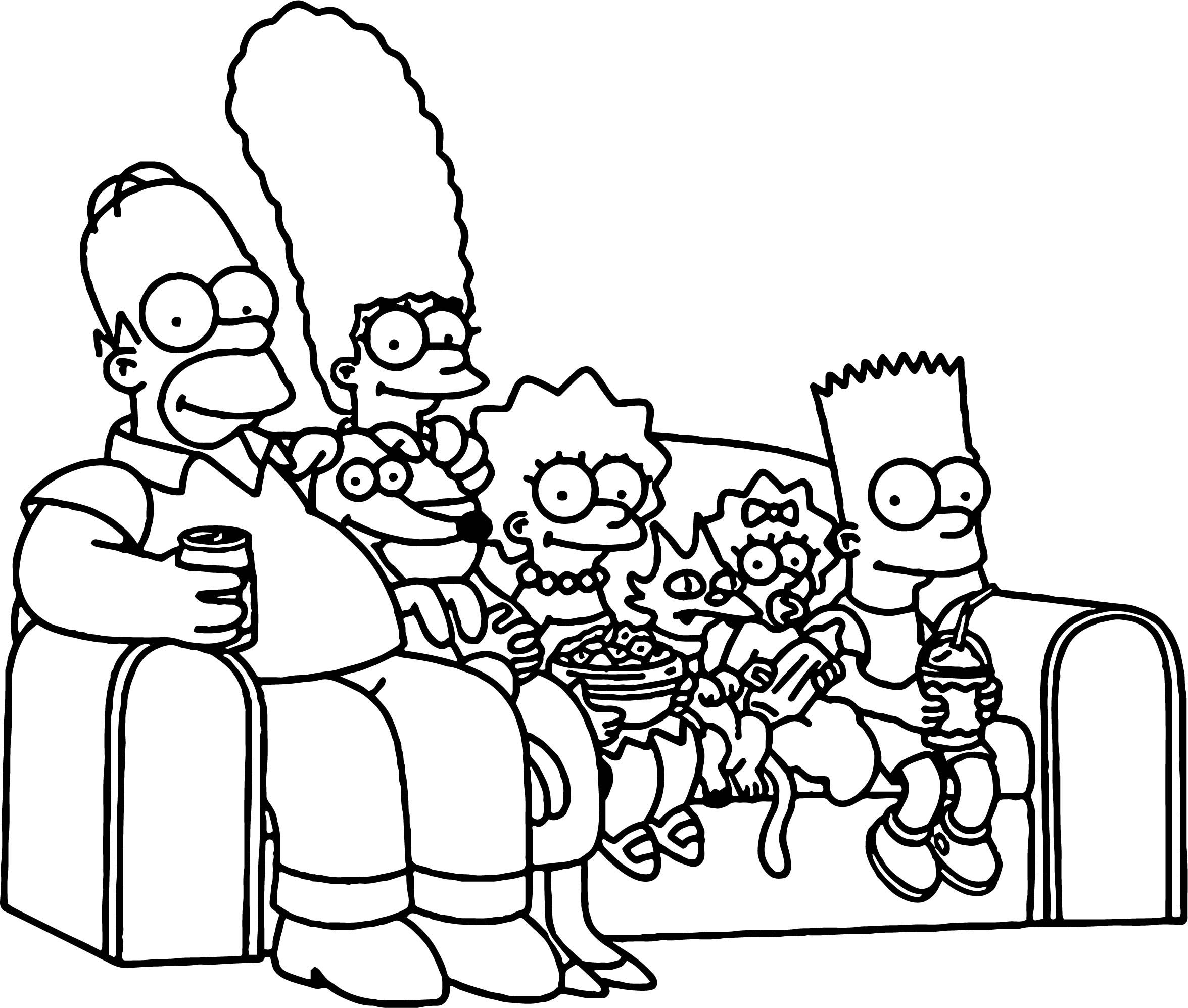 Awesome Simpsons Couch Coloring Page Simpsons Drawings Simpsons Tattoo Family Coloring Pages