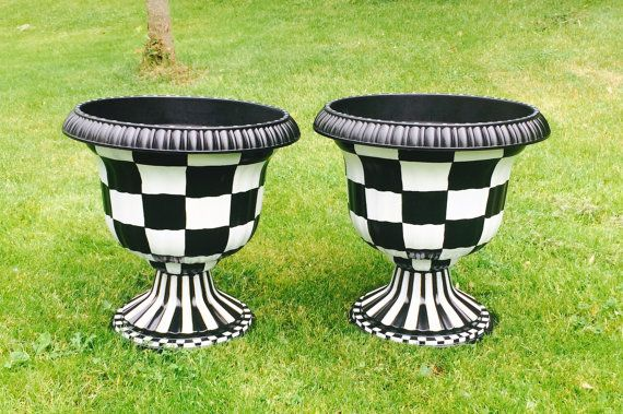 Painted Urn Planter Whimsical Painted Planter Urn 400 x 300
