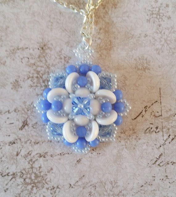 Sapphire blue Clover Pendant Blue 'Lucky by HoneyBeads1Official