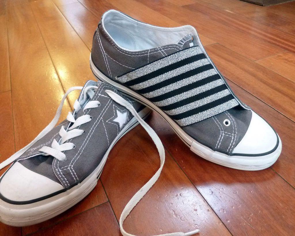 Elastic Shoes   Converse slip on shoes, Elastic shoe laces, Diy ...