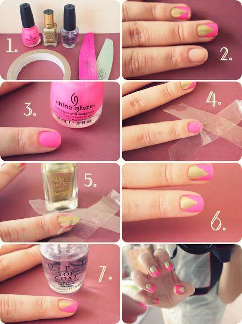 Pink and gold nail tutorial shes beautiful nail art pink nail art designs easy outube do it yourself nails step by step nails art how to do nail art get an easy way to do nail art in step bye step solutioingenieria Image collections