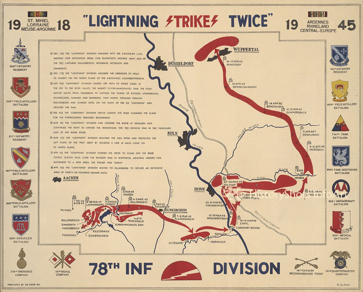 Th Infantry Division Campaign Map Division And Army - Us army ww2 maps