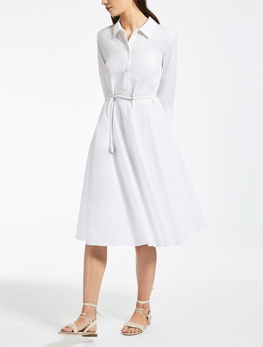 71c6cc045 Max Mara LAVAGNA blanco optico  Vestido de popelina de algodón ...
