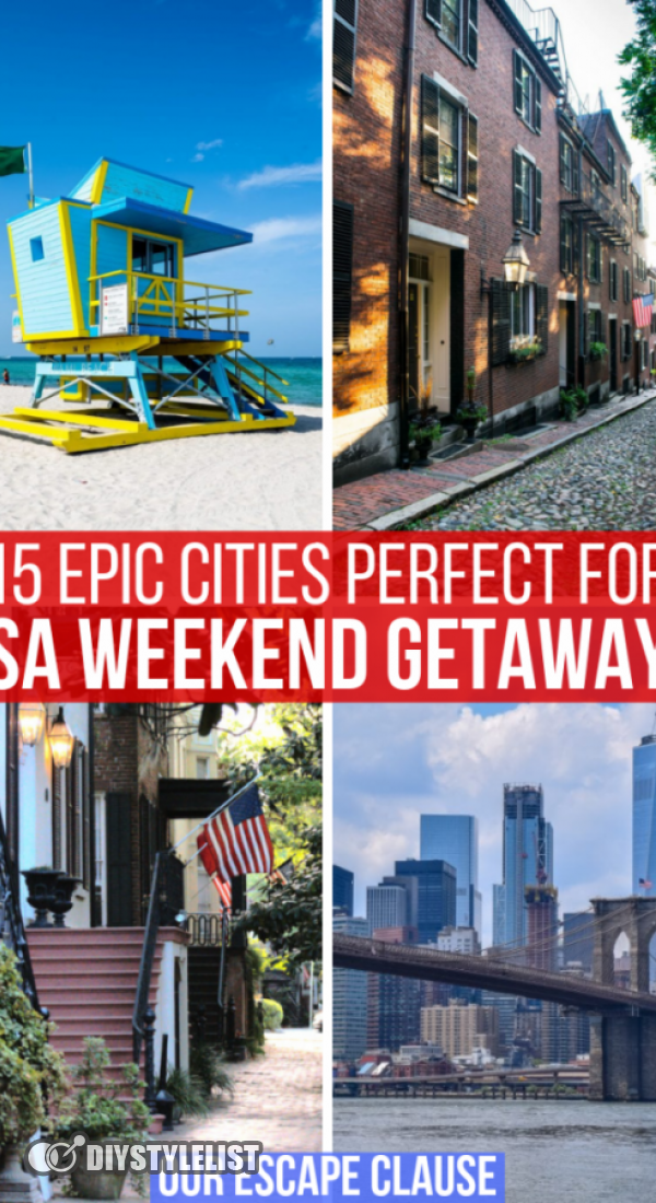 15 Cool Cities Perfect for Weekend Getaways in the USA.  Looking for some epic weekend getaways in the USA? From beaches to American history to trendy neighborhoods to excellent day trips, every one of these US cities is perfect for a weekend trip.  #usatravel #usaroadtrip #unitedstates #traveldestinations #traveltips #4thofjuly #weekendgetaways #babyshowers #grilling #swimsuitstyle