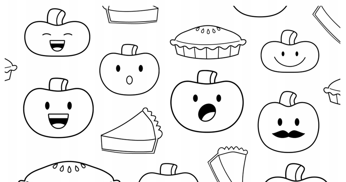 Pumpkin Pie Coloring Page - Coloring Home   630x1200
