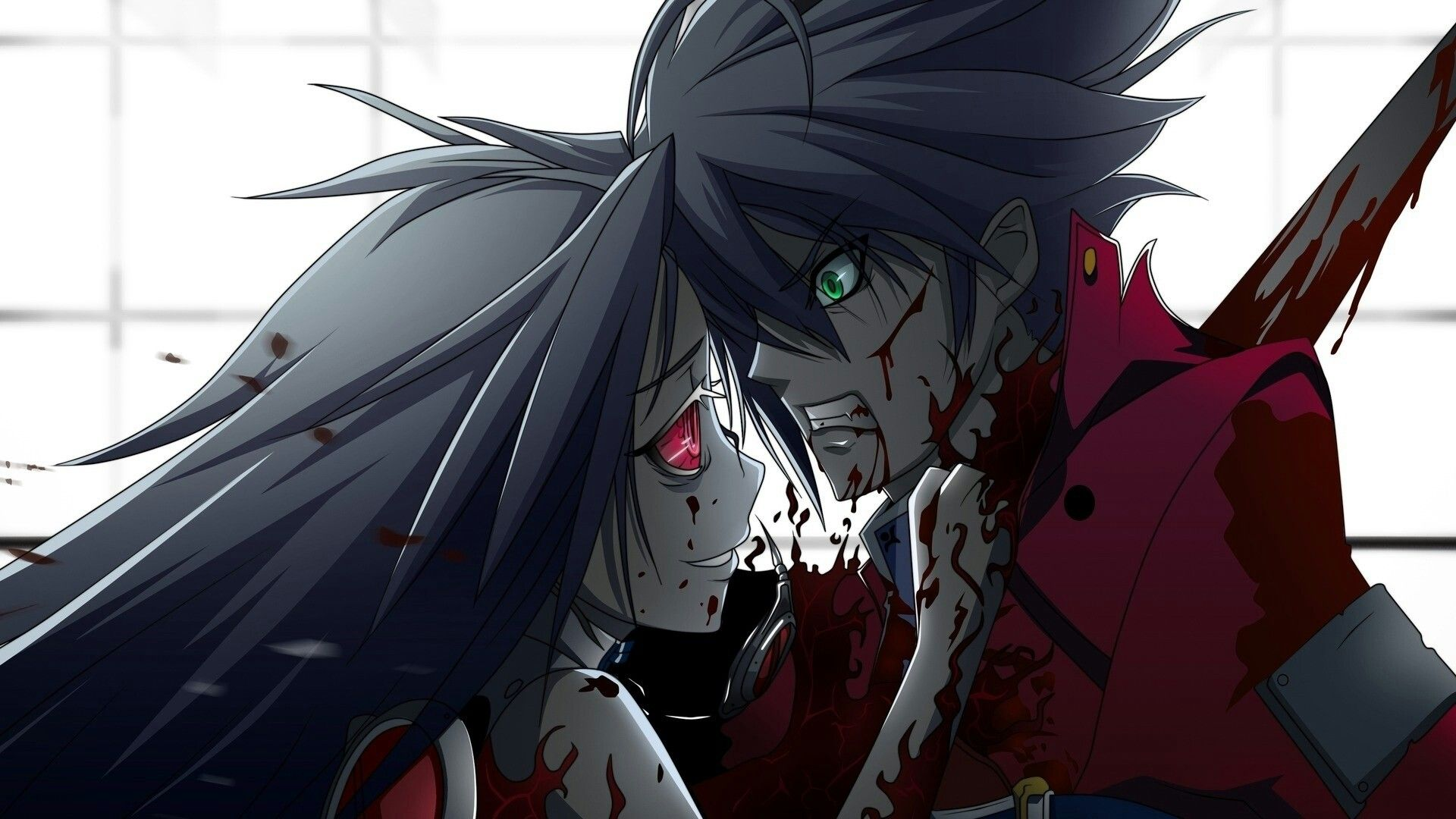 I love blood 00splatter anime blutige anime figur