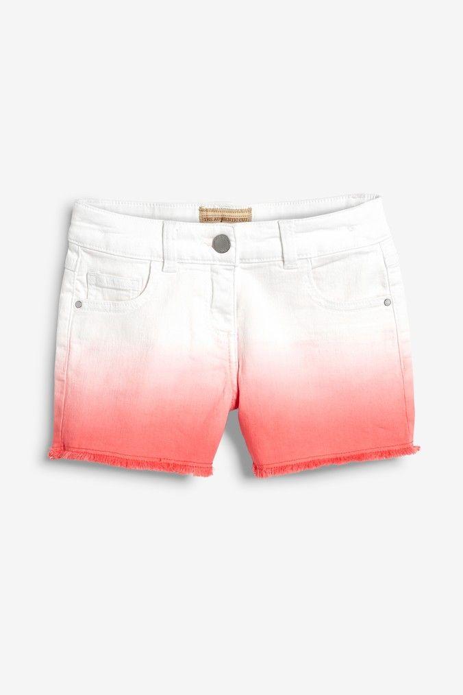 e0613f4ec5 Girls Next Coral Dip Dye Denim Shorts (3-16yrs) - Pink in 2019 ...