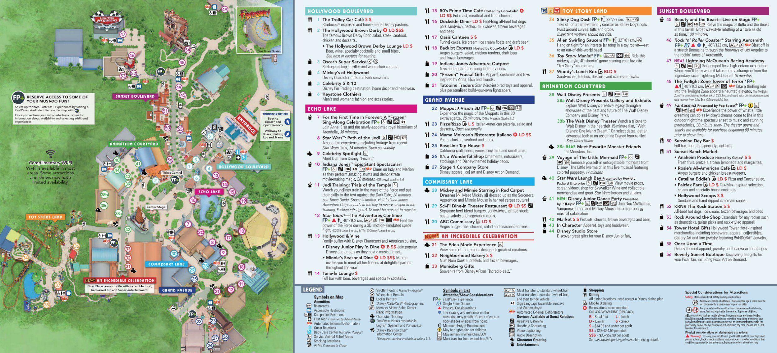 Disney\'s Hollywood Studios Map at Walt Disney World ...