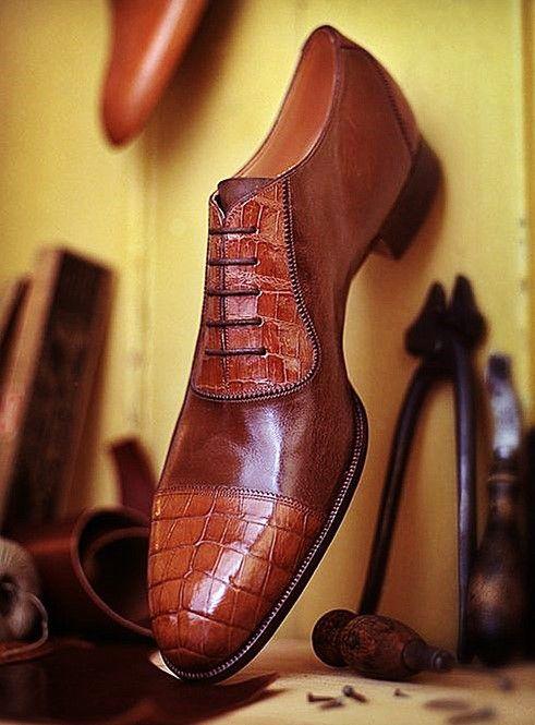 Mens alligator shoes | Männerschuhe, Herrenmode schuhe