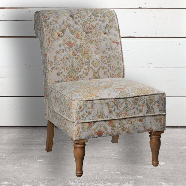Best Modern Farmhouse Armless Accent Chair In 2020 Accent 400 x 300