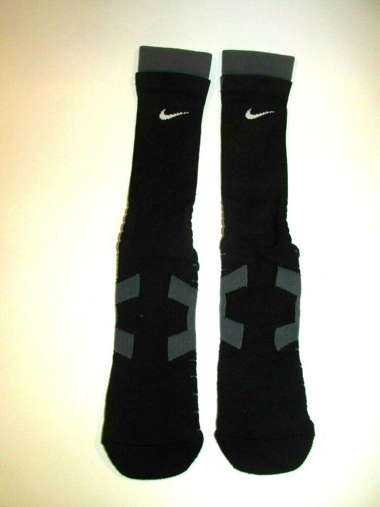 Nike Vapor Elite Football Socks Mens XL 12-15 Black Grey ...