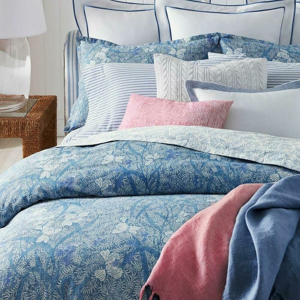 Ralph Lauren Home Meadow Lane Cotton Full Queen Duvet Cover Blue Multi 355 Ralphlauren Down Comforter Bedding Bed Linens Luxury Blue Duvet Cover
