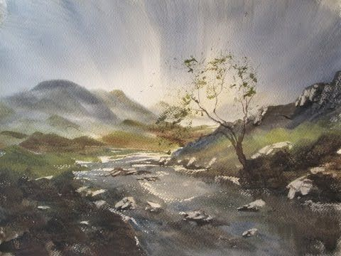 Watercolour Painting Demo With The Large Hake Brush Youtube
