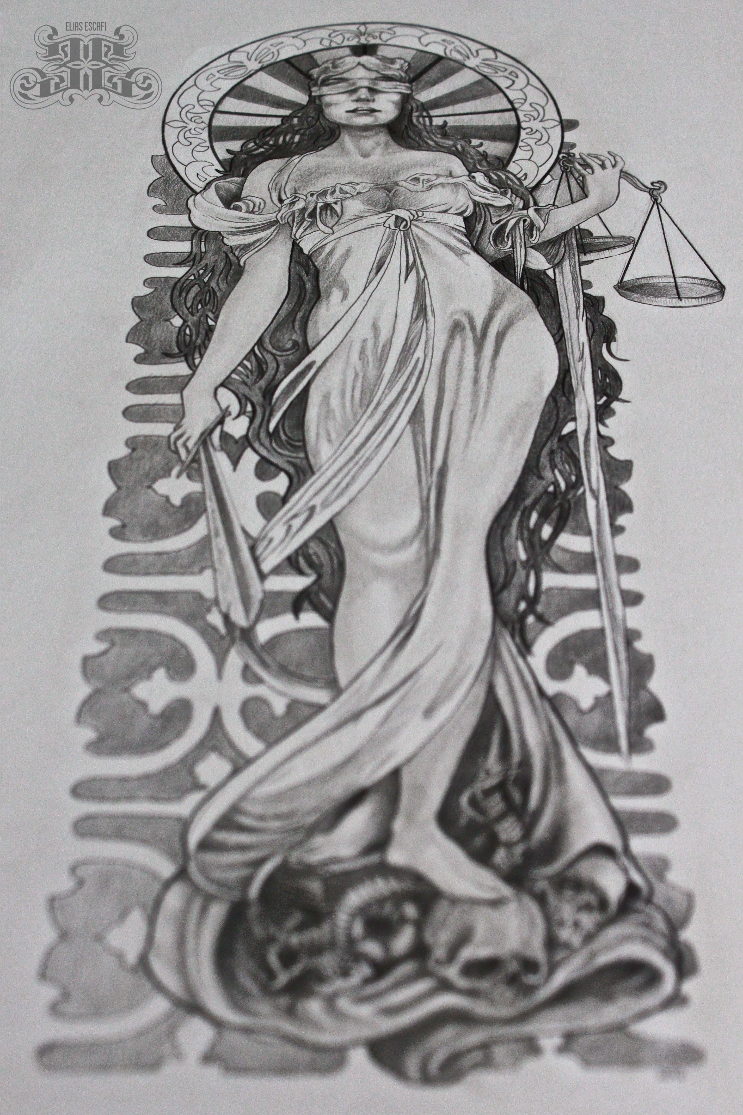 43 Justitia Ideen Justitia Justizia Tattoo 5