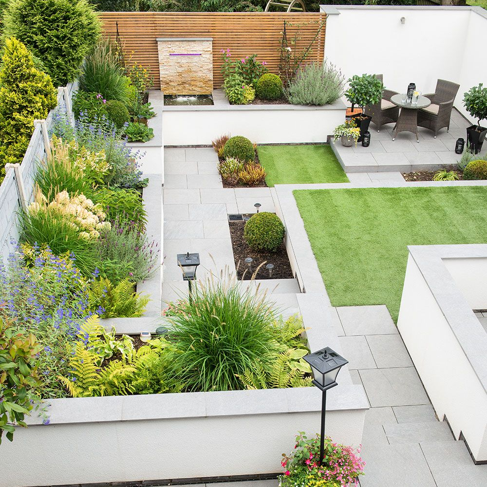 Tiered Contemporary Urban Garden: See How A Hilly Garden Has Been Made Super Easy To Manage