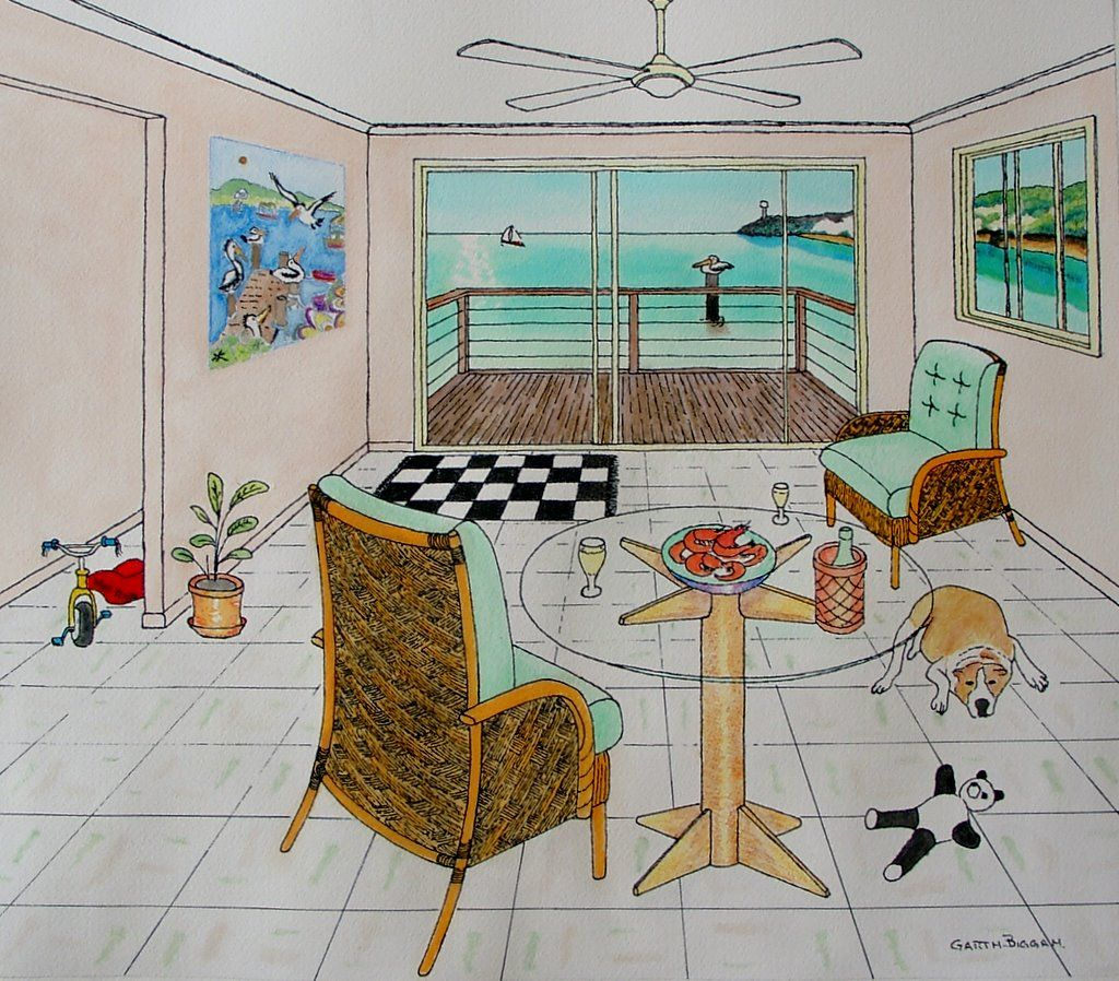 One Point Perspective In Pen And Pencil : Online Art