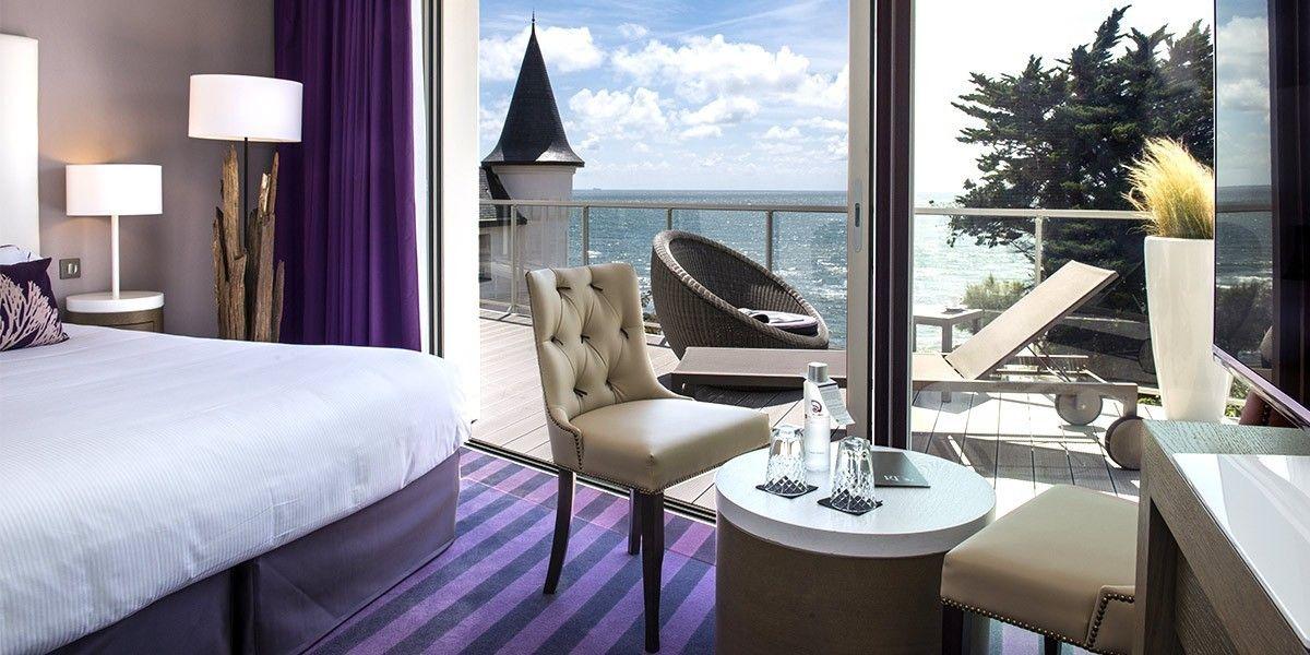 Chambre Prestige Atlantique Thalasso Spa Hotel Chateau Des Tourelles 4 Etoiles Pornichet Hotel Hotel Decoration Exterieur La Baule Escoublac Spa Luxe
