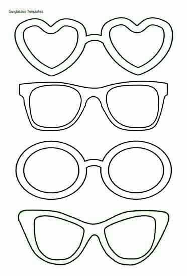 Kunst Grundschule Glasses Template To Print